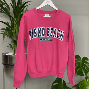 Vintage Large Letter Spell Out USA College Sweatshirt - Pink Ladies Size S