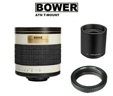Bower 500/1000mm f/6.3 (ATN) Telephoto Mirror Lens for Nikon DSLR Camera