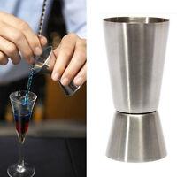 Single Double Shot 25/50ml Cup Cocktail Jigger Short Drink Spirit Measure Party