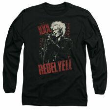 Billy Idol Brick Wall Rebel Yell Long Sleeve Shirt Licensed Merchandise Black