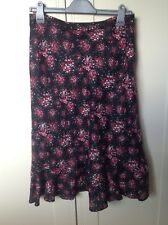Quality Laura Ashley Floral Lined Skirt 12