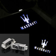 LED Door Light Projector White Logo Emblem HD For MASERATI Quattroporte Ghibli