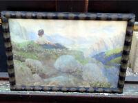 Monogrammist L.G. - Phantastische Berglandschaft mit einer Sennerin um 1900