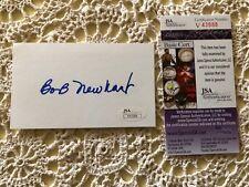 Bob Newhart Signed Index Card JSA Authentic