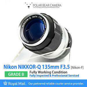 ⭐SERVICED⭐ NIKON 135mm F3.5 Nikkor-Q Auto Pre-AI Full Frame+ Caps [GRADE B]
