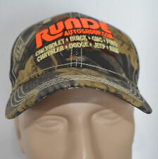 Runde Auto Group Hat Chevy Ford Jeep Dodge Camo Baseball CAP Lid Sports Hunting