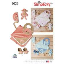 Simplicity Pattern 8623 Baby Accessories infants babies layette blanket bibs