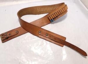 """Size 32-34"""" Vintage Gun Holster & Cartridge Belt for .22 .22 Magnum"""