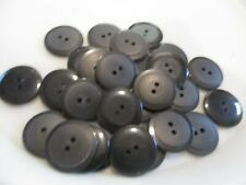 LOT OF 27 BLACK COLOR 7/8 INCH 2 HOLE BUTTONS, NEW