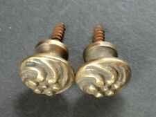 """Pair (2) Sm.solid Brass Floral Stacking Barrister Bookcase 5/8"""" Knobs Pulls #K14"""