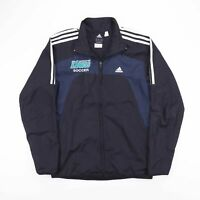 Vintage ADIDAS Black Blue Mesh Lined Lightweight Track Jacket Mens Size Small