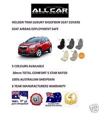 Sheepskin Car Seatcovers for Holden Trax ,5 colours, Seat Airbag Safe 30mmTC