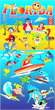 "30"" x 60"" Florida Fun In The Sun"" Velour Beach Towel 100%Cotton"