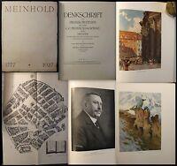 Jobst Denkschrift Jubiläum 150 Jahre C.C. Meinhold & Söhne 1927 Buchbinderei xz