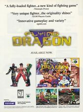 Original Nintendo 64 N64  FLYING DRAGON fighting video game print ad page