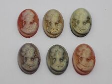 50 Mixed Color Beautiful Lady Woman Oval Flatback Resin Cameo Cabochon 13X18mm