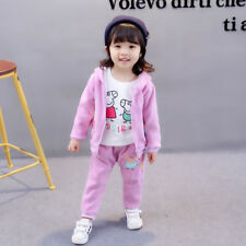 Girl 3 pcs WARM clothing set outfit tracksuit (top+pants+jacket) 2-3 years