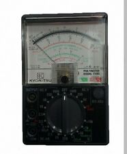 New 1109s Kyoritsu Analogue Multimeters With Carrying Case