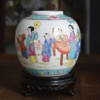 Antique Chinese Porcelain Tea / Ginger Jar Late Qing early Republic #250