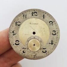 ULTRA RARE LONGINES Bicolor Clock Face Dial Pocket Watch Swiss Vintage Men's Old