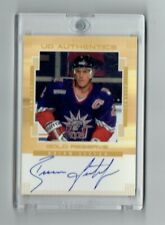2000 Upper Deck Hockey UD Authentics AUTOGRAPH CARD GOLD- BRIAN LEETCH Rangers