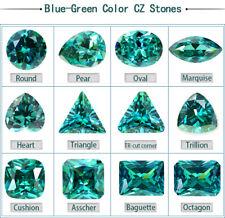 Spacial color Blue-Green Cubic zirconia Pear loose gemstone