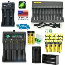 Fast Battery Charger For FlashLight with 3.7V Li-ion Rechargeable Battery US