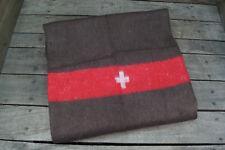 CH Schweizer Decke 200 x 150 cm braun Biwakdecke Pferdedecke Armee Kreuz