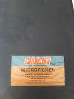 Microfiches Originali Parti di Ricambio Officine Autorizzate Fiat
