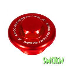 Apico Oil Filler Cap Plug Honda CRF 150 250 450 R X RE & RX 04-18 Alloy Red