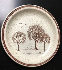 "Churchill Homespun Stonecast 6.5'"" Dessert Plate Trees"