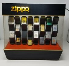 VINTAGE RARE ZIPPO LIGHTER LIGHTED REVOLVING ROTATING STORE DISPLAY CASE ONLY