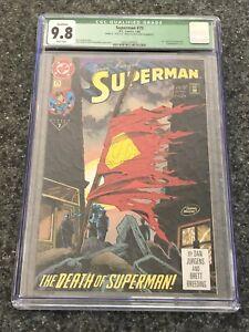 DC Comics ~ Superman # 75 ~ Signed by Jerry Siegel ~ CGC 9.8 NM/MT ~ DF/164/1250