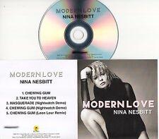 NINA NESBITT Modern Love EP 2016 UK 5-trk numbered promo test CD