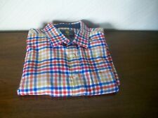 """Brook Taverner Pure Cotton Red/White/Blue Check Shirt, Size XXL, 18"""" Collar"""