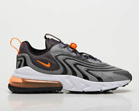 Nike Air Max 270 React ENG Men's Iron Grey Orange Low Lifestyle Sneakers Shoes