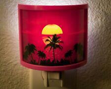 Palm Trees LED Plug In Night Light - Tropical Decor  - Sunset Hawaii Wall Art