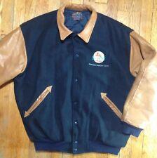 1991 33rd Grammy Awards Varsity Jacket Mens Pepsi Sponsor Large Black Brown~Rare