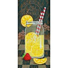 A REFRESHING GLASS OF LEMONADE CROSS STITCH KIT by DIMENSIONS