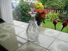 Antique Victorian Glass Decanter with Neckring, Size 28 x 11 cm