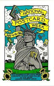 Vintage Postcard - 1986 National Postcrad Week Wichita Club Kansas #6637
