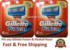 Gillette Fusion Manual Men's Razor Blade Refill Cartridges 8 Ct BULK Ft Flexball