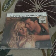 RICKY MARTIN/ CHRISTINA AGUILERA. NOBODY WANRS TO BE LONELY CD.