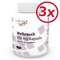 Vita World 3er Pack Boswellia 500mg 3 x 120 Kapseln 65% Weihrauch Extrakt