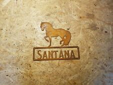 P.R.E. mit Wunschtext in Edelrost spanisches Pferd Andalusier Boxenschild