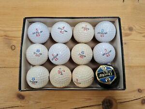 Box of 12 Vintage Dunlop 65 Golf Balls inc Wrapper