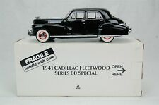 """Danbury Mint 1941 Cadillac Fleetwood Series 60 Special Black 9"""" Length with Box"""