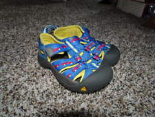 KEEN TODDLER 6 BLUE YELLOW RED CARS SANDALS SHOES