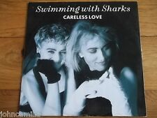 "SWIMMING WITH SHARKS - CARELESS LOVE 12"" RECORD / VINYL - WEA - YZ 173T"