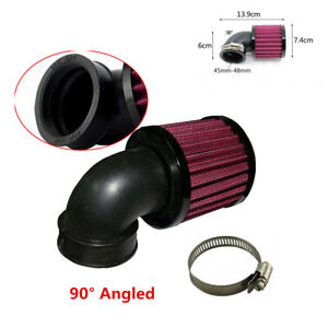 Universal Black 45-48mm Motorcycle Scooter Air Cleaner Intake Filter+Clamp Kit